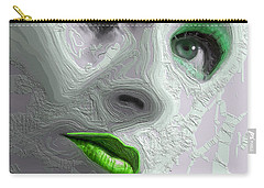 The Beauty Regime Green Carry-all Pouch by ISAW Gallery