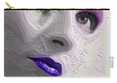 The Beauty Regime Purple Carry-all Pouch by ISAW Gallery