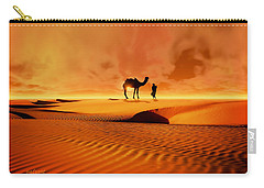Carry-all Pouch featuring the photograph The Bedouin by Valerie Anne Kelly
