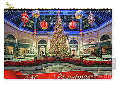 The Bellagio Conservatory Christmas Tree Card 5 By 7 Carry-all Pouch