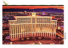 The Bellagio Fountains After Sunset Portrait Carry-all Pouch by Aloha Art