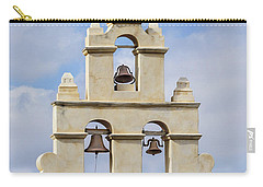 Carry-all Pouch featuring the photograph The Bells Of San Juan by Mary Jo Allen