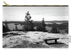 Carry-all Pouch featuring the photograph The Bench Atop Turtleback by Lorraine Devon Wilke