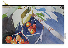 Carry-all Pouch featuring the painting The Berries by Kris Parins