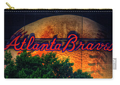 The Big Ball Atlanta Braves Baseball Signage Art Carry-all Pouch