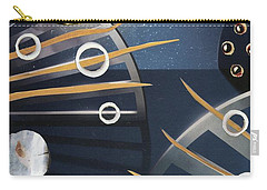 Carry-all Pouch featuring the painting The Big Bang by Michal Mitak Mahgerefteh