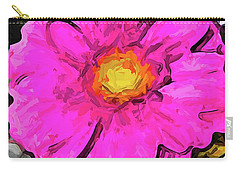 The Big Pink And Yellow Flower In The Little Vase Carry-all Pouch