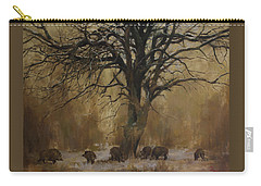 The Big Tree With Wild Boars Carry-all Pouch