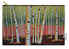 The Birch Forest Carry-all Pouch by Kathleen Sartoris