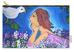 Carry-all Pouch featuring the painting The Bird by Winsome Gunning