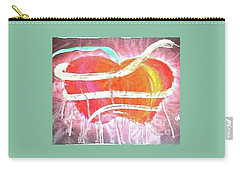 The Bleeding Heart Of The Illuminated Forbidden Fruit Carry-all Pouch by Talisa Hartley