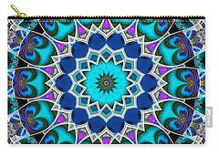 Carry-all Pouch featuring the digital art The Blue Collective 01a by Wendy J St Christopher