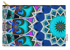 Carry-all Pouch featuring the digital art The Blue Collective 01b by Wendy J St Christopher