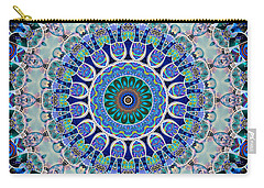 Carry-all Pouch featuring the digital art The Blue Collective 02a by Wendy J St Christopher