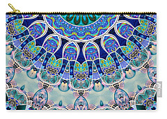 Carry-all Pouch featuring the digital art The Blue Collective 02b by Wendy J St Christopher