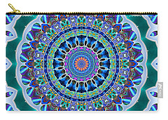 Carry-all Pouch featuring the digital art The Blue Collective 03a by Wendy J St Christopher