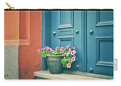 Carry-all Pouch featuring the photograph The Blue Door by Karen Stahlros