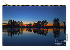 Carry-all Pouch featuring the photograph The Blue Hour.. by Nina Stavlund