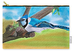 The Blue Jay  Carry-all Pouch by Tony Clark