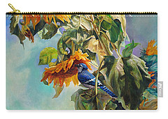 The Blue Jay Who Came To Breakfast Carry-all Pouch by Svitozar Nenyuk