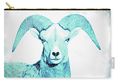 Carry-all Pouch featuring the photograph The Blue Ram by Jennie Marie Schell