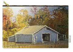 Carry-all Pouch featuring the painting The Blue Shed by Jim Phillips