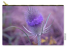 The Blue Softness Of A Teasel Carry-all Pouch by Michelle Meenawong