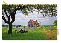 Carry-all Pouch featuring the photograph The Bluebonnet House by Linda Unger