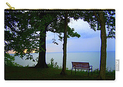 Carry-all Pouch featuring the photograph The Bluffs Bench by Richard Ricci