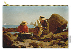 Carry-all Pouch featuring the painting The Boat Builders - 1873 by Winslow Homer