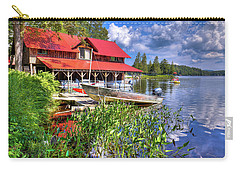 Carry-all Pouch featuring the photograph The Boathouse At Covewood by David Patterson