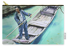 Carry-all Pouch featuring the painting The Boatman by Kris Parins