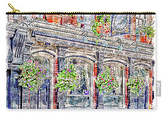 Carry-all Pouch featuring the digital art The Bonny Boat An Historic English Pub by Anthony Murphy