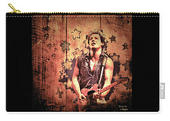 Carry-all Pouch featuring the photograph The Boss 1985 by Paula Ayers