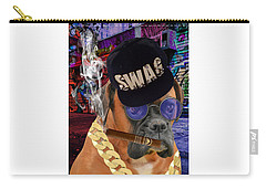 Carry-all Pouch featuring the mixed media The Boss Boxer by Marvin Blaine