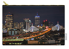 The Boston Skyline Boston Ma Full Zakim Carry-all Pouch