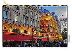 The Boulevard Saint Michel At Dusk In Paris, France Carry-all Pouch by Richard Rosenshein