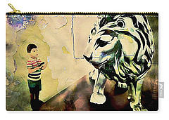 The Boy And The Lion Graffiti Creator,street-art Graffiti,street-art,graffiti Art Street,banksy Art, Carry-all Pouch