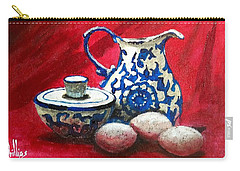 Carry-all Pouch featuring the painting The Breakfast Still Life by Jim Phillips