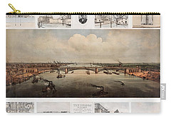 The Bridge At St. Louis, Missouri, Ca. 1874 Carry-all Pouch