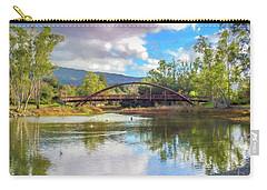 The Bridge At Vasona Lake Digital Art Carry-all Pouch