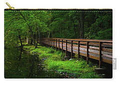 Carry-all Pouch featuring the photograph The Bridge At Wolfe Park by Karol Livote
