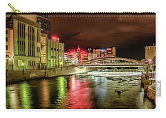 New Bridge In Town Carry-all Pouch by Janis Knight