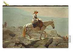 Carry-all Pouch featuring the painting The Bridle Path, White Mountains - 1868 by Winslow Homer