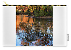 The Bright Colors Of Autumn, Quiet Evenings Are Reflected In The Waters Of The City Pond Carry-all Pouch
