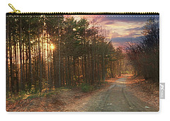 Carry-all Pouch featuring the photograph The Brown Path Before Me by Lori Deiter
