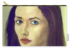 The Brunette With Blue Eyes Carry-all Pouch