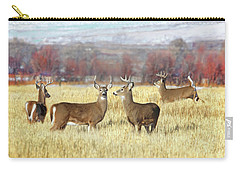 Carry-all Pouch featuring the photograph The Bucks Stop Here White-tail Deer  by Jennie Marie Schell