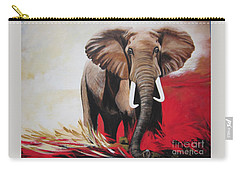 Bumper The  Bull Elephant  Carry-all Pouch