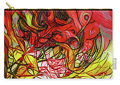 Carry-all Pouch featuring the digital art The Burning Bush Encounter by Steve Taylor